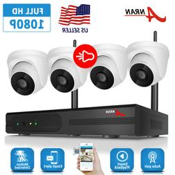 ANRAN 1080P Audio Wireless Home Security Camera System 1TB H