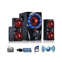 beFree Sound 2.1 Channel Bluetooth Surround Sound Speaker Sy