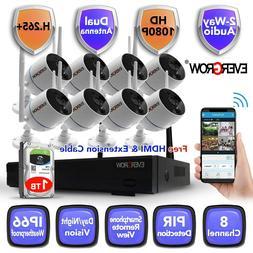 Wireless  2 Way audio  NVR In/Outdoor HD IR-CUT Wifi Camera