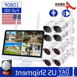 ANRAN Audio Home Security Camera System Outdoor Wireless 8CH