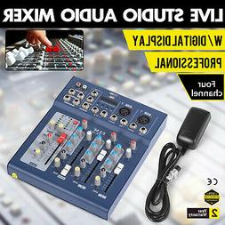 4 Channel Sound MIxer Console Home Karaoke Audio System F4