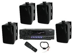 """Pyle PLMR24B 3.5"""" 200W Box Speakers 4 Pack & PT260A Home Dig"""