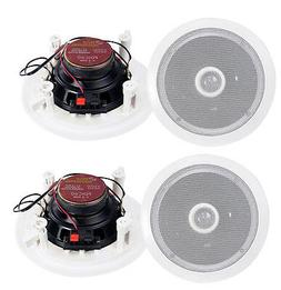 """4) Pyle 6.5"""" 500W 2 Way Round In Wall/Ceiling Home Speakers"""