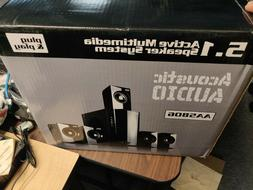 Acoustic Audio 5.1 AA5806  6 Speaker System Home Theater Sur