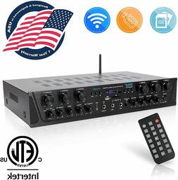 600W 6ch BLUETOOTH AUDIO POWER AMP AMPLIFIER STEREO HOME THE