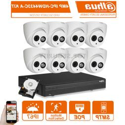 Dahua 8 Channel 4Mp PoE Audio Motion Weatherproof Home Busin