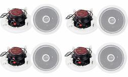 """8) Pyle PDIC60 6.5"""" 250W 2 Way Round In Wall/Ceiling Home Sp"""