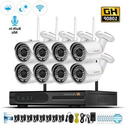 8CH 1080P IP Wireless Home Security Camera System WIFI NVR C
