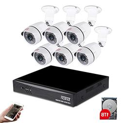Tonton 8CH Full HD 1080P Expandable Security Camera System,