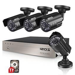 ZOSI 8CH Security Camera System HD-TVI 1080N Video DVR recor
