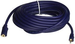 C2G 40628 Velocity 3.5mm M/F Mono Audio Extension Cable, Blu
