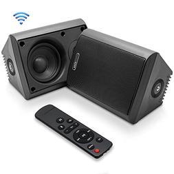 Dual Bluetooth Wall Mount Speakers - 4 Inch 200 Watt Pair of