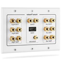Fosmon  Home Theater Wall Plate, Premium Gold Plated Copper
