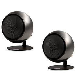 Orb Audio Mod1 Round Stereo & TV Speakers - Polished Steel