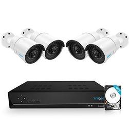 Reolink 8CH 5MP PoE Home Security Camera System, 4 x Wired 5