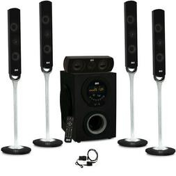Acoustic Audio AAT3000 Tower 5.1 Home Theater Bluetooth Spea