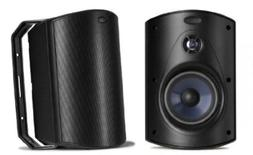 Polk Audio Atrium 6 Speakers Pair Black Outdoor Sound System