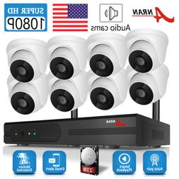 ANRAN Outdoor Home Security Camera System Audio Wireless 108