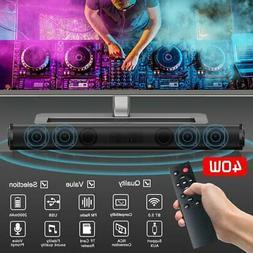 Bluetooth 5.0 Home TV Sound Bar Speaker System Wireless Subw