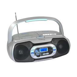 Supersonic Bluetooth Compatible Portable MP3/CD Cassette FM