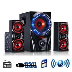 Bluetooth Speaker USB SD Slots FM Radio Home Theater Surroun