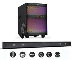 LuguLake Soundbar, 2.1 Channel TV Sound bar System with Subw
