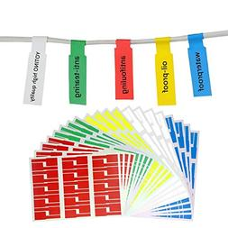 YOTINO Cable Label, 20 Sheets 600 Labels Waterproof Self-Adh