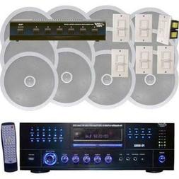 1000 Watt 6 Channel In-Ceiling Speaker System With w/Built-i