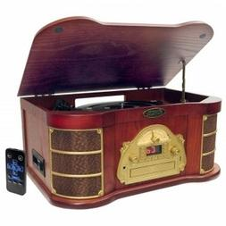 Classical Turntable - AM-FM Radio, CD, Cassette - USB Record