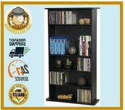 Atlantic 37935726 Drawbridge 240 P2 Media Cabinet, Black