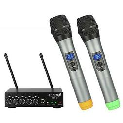 Fifine Dual Channel Wireless Handheld Microphone,easy-to-use