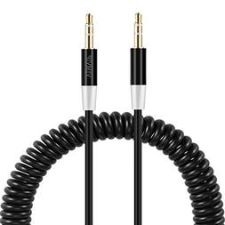 VIMVIP Flexible Spring 3.5mm To 3.5 mm Car Aux Audio Cable f