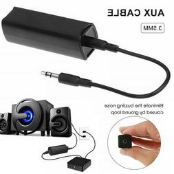 Ground Loop Noise Isolator 3.5mm AUX Jack Cable For Car Audi