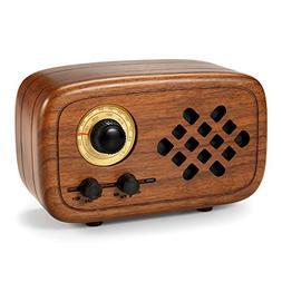 Rerii Handmade Walnut Wood Portable Bluetooth Speaker, Bluet