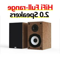 HiFi 2.0 Full-range Passive Speakers Wooden Monitoring for H