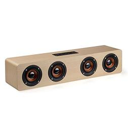 Anynow HiFi Wireless Wooden Bluetooth Speaker Desktop Speake