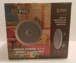 """Pyle Home Audio PDIC60 New 6.5"""" 2-Way Midbass In-Celing Spea"""