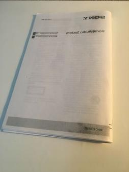 Sony Home Audio System MHC-EC619 IP Owner Manual