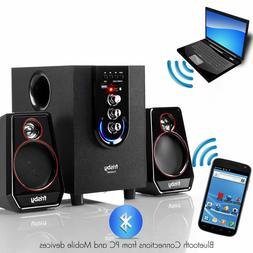 Home Office Computer Laptop PC 2 Speaker Bluetooth Audio Sys