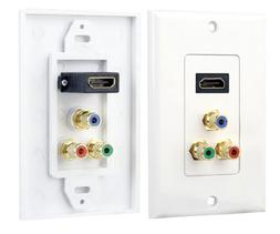 Pyle Home PHDMRCF3 HDMI/3 RGB/RCA Component Combo Wall Plate