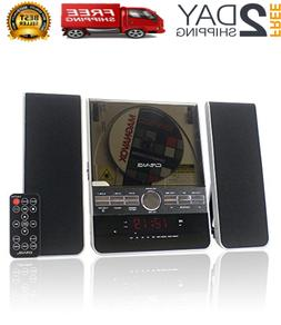 Home Stereo System Wall Mount CD Player Shelf Audio Speakers
