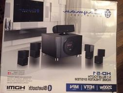 Cayman Home Theater System HD-51 2500W HDTV 5.1 Channel Blue