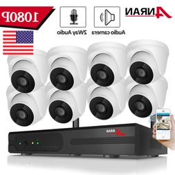 ANRAN Home Wireless 1080P Security Camera Audio System 2MP C