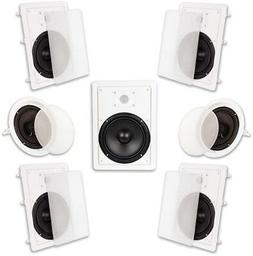 "Acoustic Audio HT-87 In Wall In Ceiling 2100 Watt 8"" Home Th"