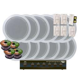 KTHSP126 - 6 Room In-Ceiling 6'' Home Speaker System w/6 Vol