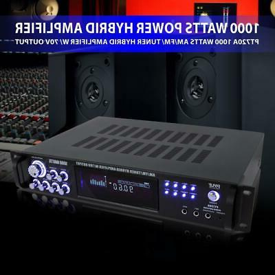 1000W POWER HYBRID AMP AMPLIFIER STEREO HOME THEATER RECEIVER SYSTEM