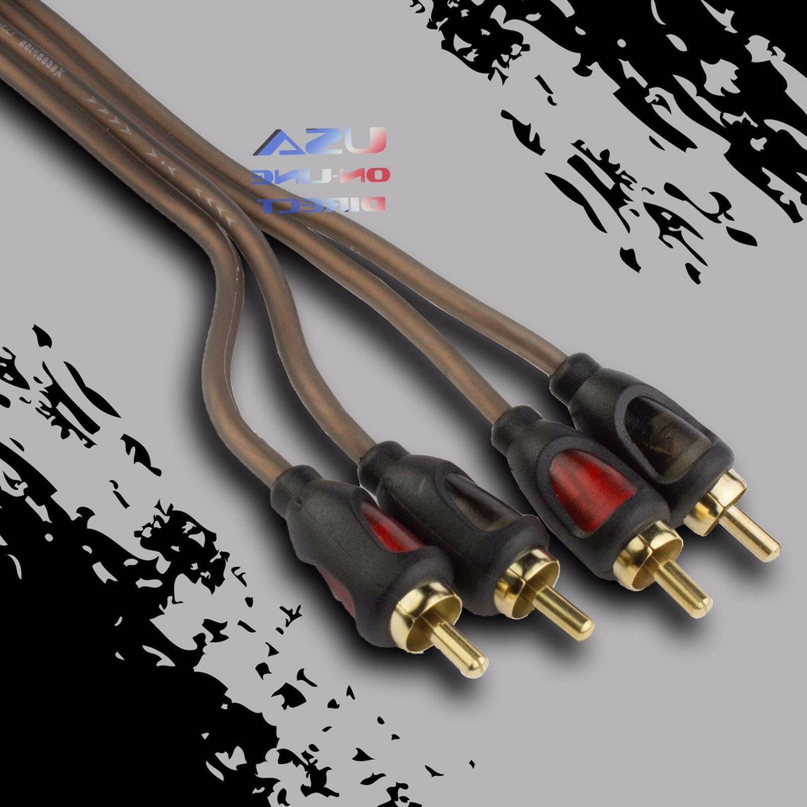 15ft car stereo audio rca interconnect copper