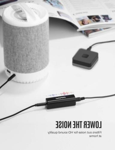 Mpow Ground Isolator Car Audio Stereo 3.5mm Cable