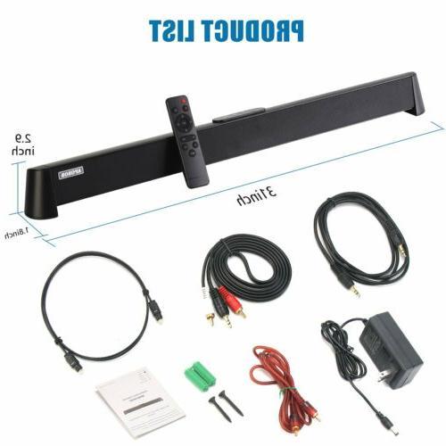 Powerful Theater Soundbar Bluetooth Speaker System w/Subwoofer