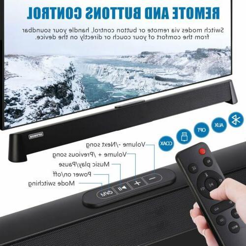 Powerful Home Soundbar Sound Speaker System w/Subwoofer